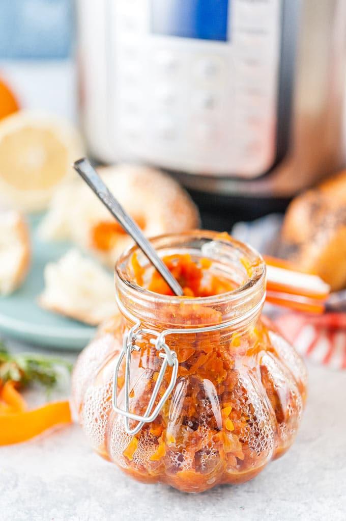 Jar with Carrot Cake Jam.