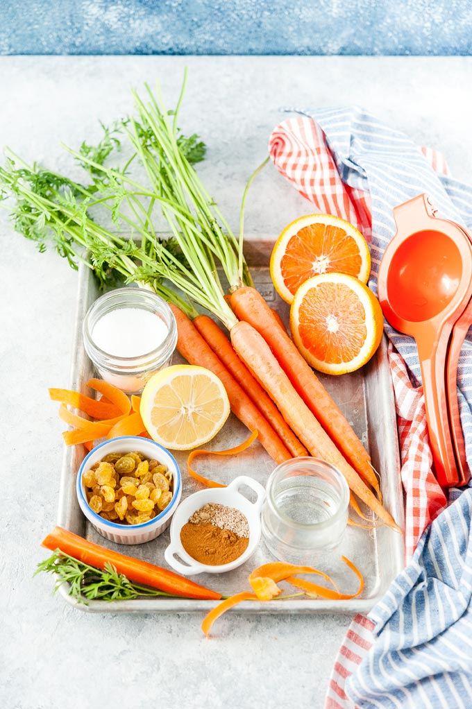 All the ingredients to make Carrot Cake Jam.